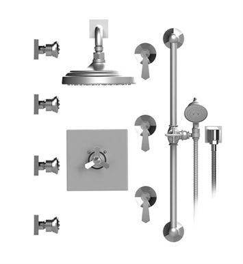 Rubinet 46hxl Hexis Temperature Control Shower With Wall Mount 8 Shower Head Bar Integral Supply Hand Held Shower Four Body Sprays With Images Shower Heads Hand Held Shower Temperature Control