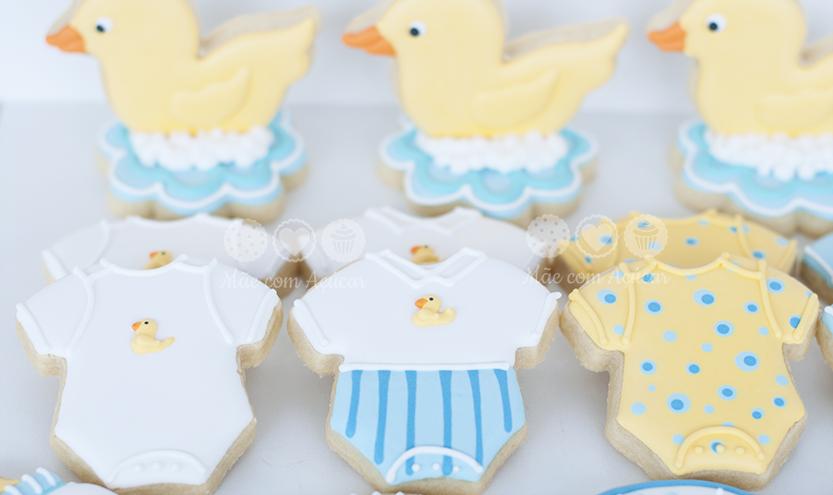 Biscoitos decorados para chá de bebê   Macetes de Mãe