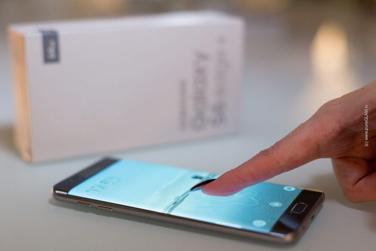 Perfekte Smartphone Größe Abgerundete Seite S6edge Smartphone