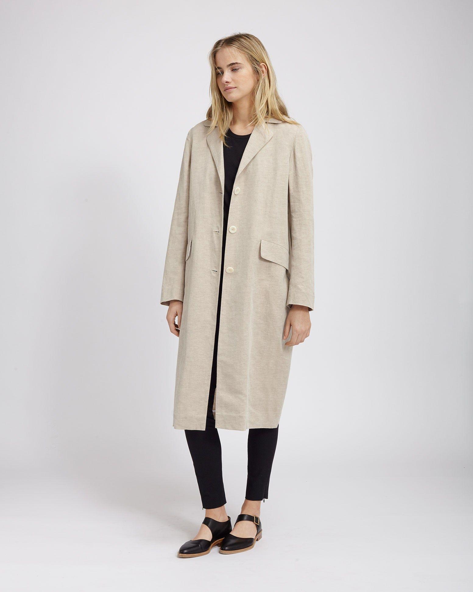 b318b931f4 Women s Natural Cotton Linen Takara Coat