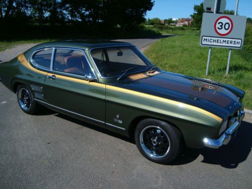 Ford Capri 1969 2 0 Gt Mk1 Five Speed Manual Petrol Coupe In Green Ford Capri Dream Cars Coupe