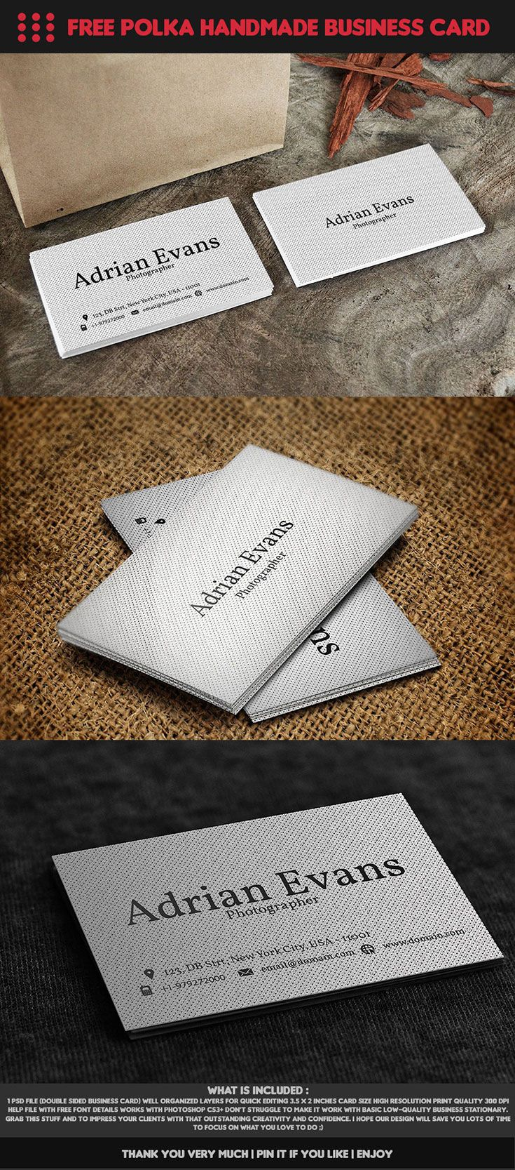 Introducing Our Polka Creative Business Card Handmade Template - Double sided business card template photoshop