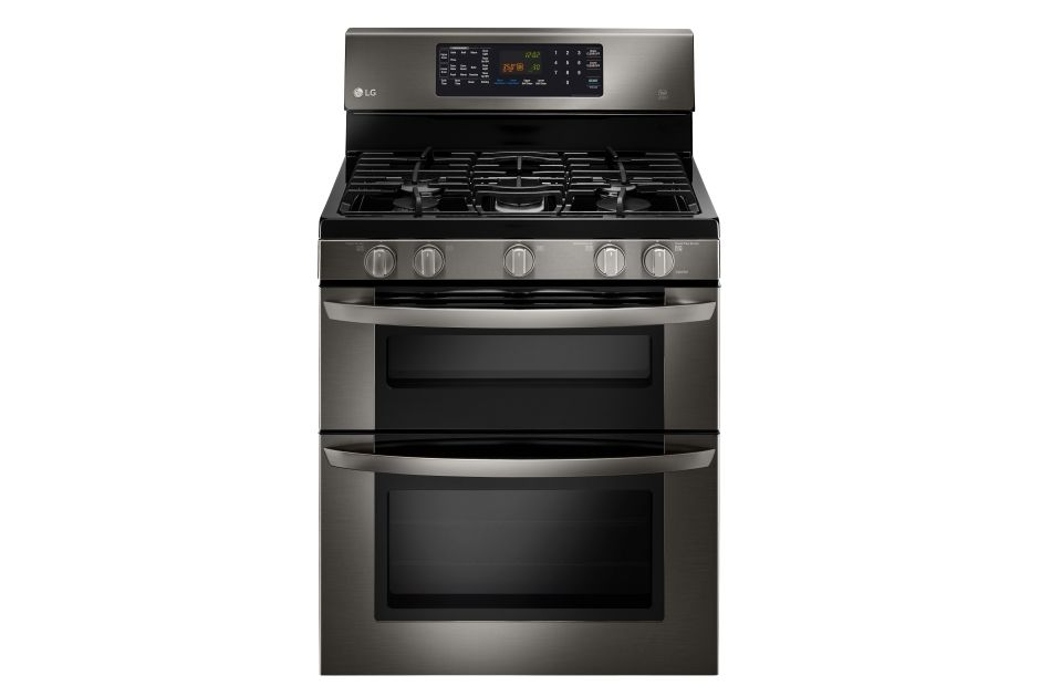 Lg 30 Black Stainless Steel Double Oven Gas Range Hhgregg
