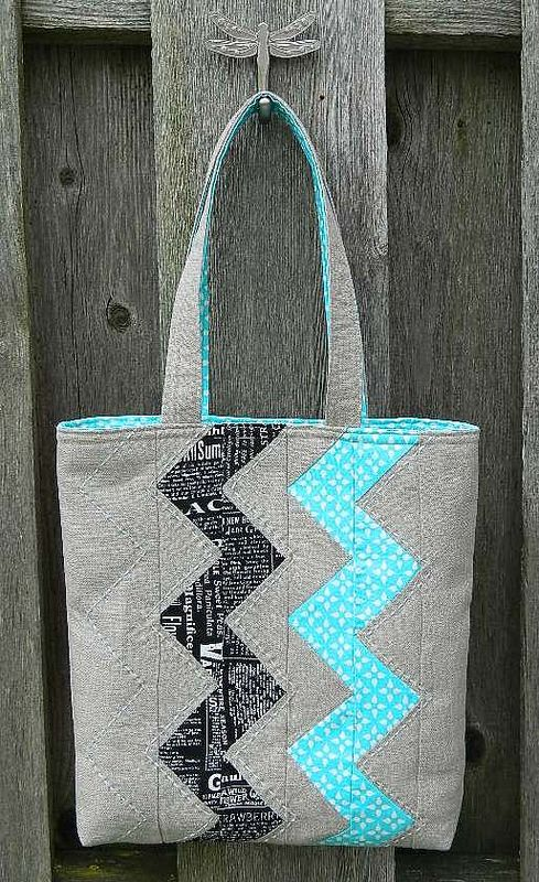 zigzag tote    by s.o.t.a.k handmade