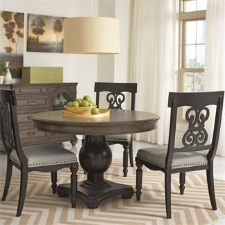 Riverside Belmeade Round Dining Table 48 D Expands To 66