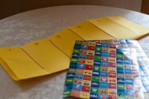sticker number line . . . great for little guys