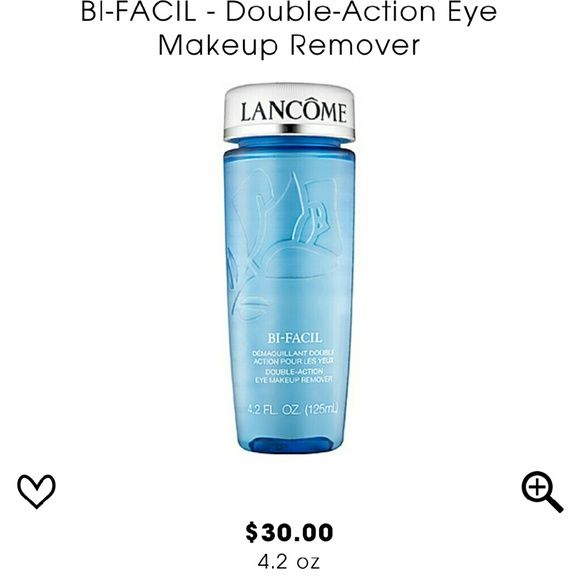 Lancome Bi-Facil Eye Makeup Remover Double phase liquid eye makeup remover, great for removing waterproof makeup. Brand new, never used. Lancome Makeup Brushes & Tools