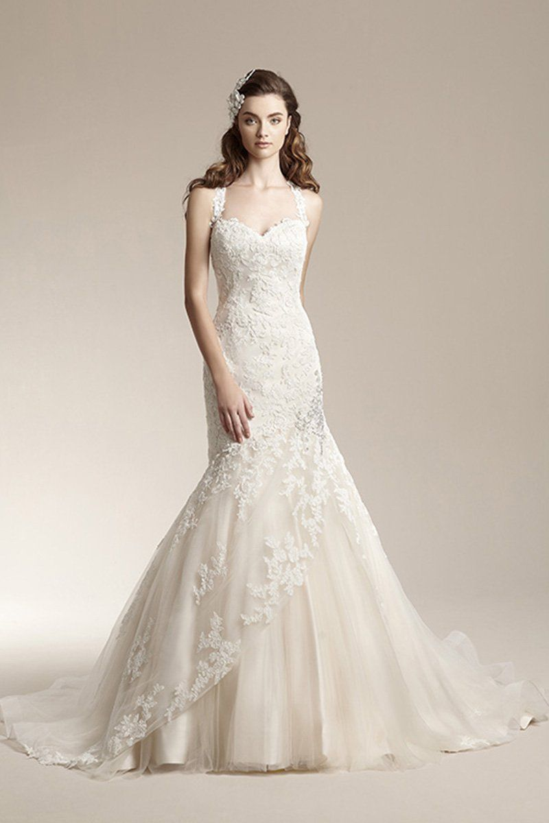 Photo via pinterest lace overlay dress mermaid gown and wedding