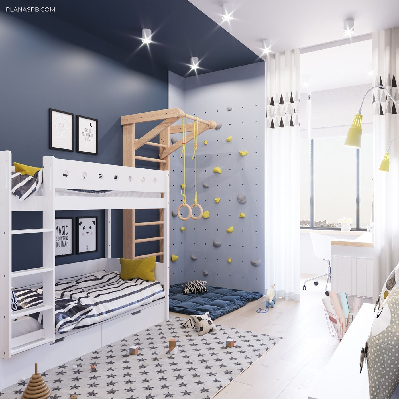 37 Fantastic Childs Room Designs Ideas With Blue Yellow
