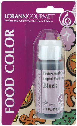 Liquid Food Color 1 Ounce Bottle/Pkg-Black. 1 Ounce Bottle ...