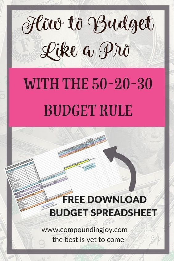 How to Budget Like a Pro With the 50-30-20 Rule Budgeting - Download Budget Spreadsheet