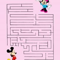 mickey and minnie mouse maze pre k worksheets pinterest minnie