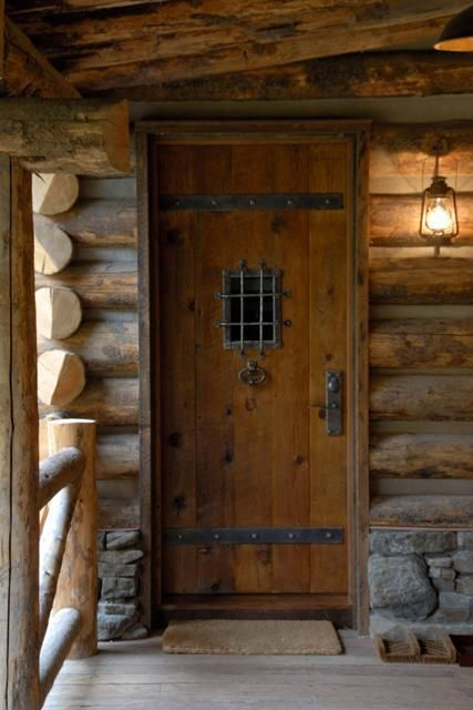 Image result for rustic cabin front doors | Log Home Decor ...