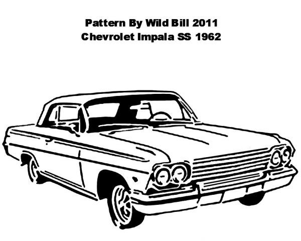 64 chevy impala old car coloring page