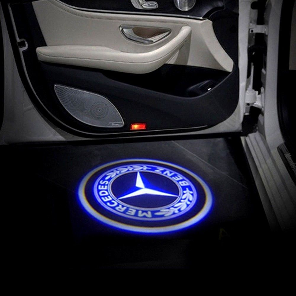 2 Pcs Wireless Led Car Door Laser Welcome Courtesy Ghost Lights Mercedes Benz Unbranded Ghost Lights Mercedes Benz Mercedes