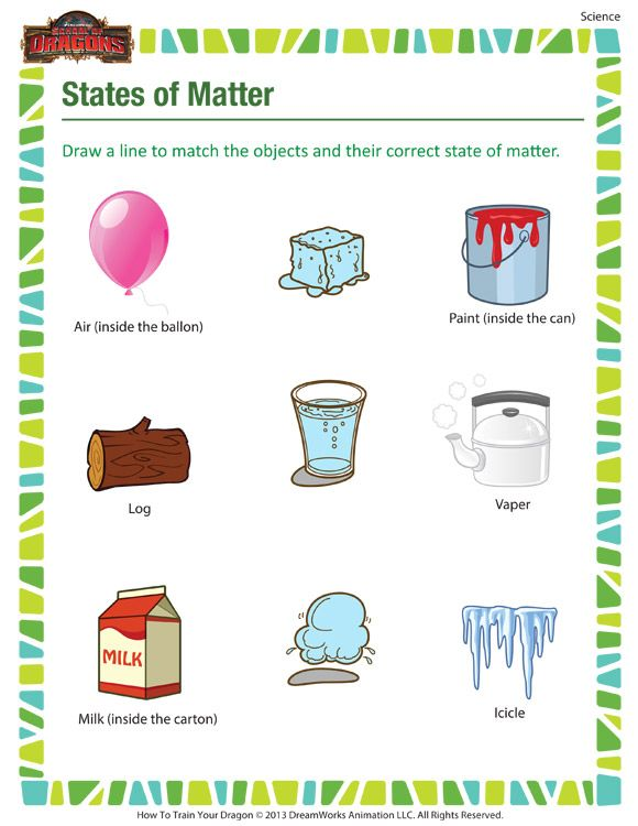 States of Matter - Printable science worksheets for 3rd grade ...