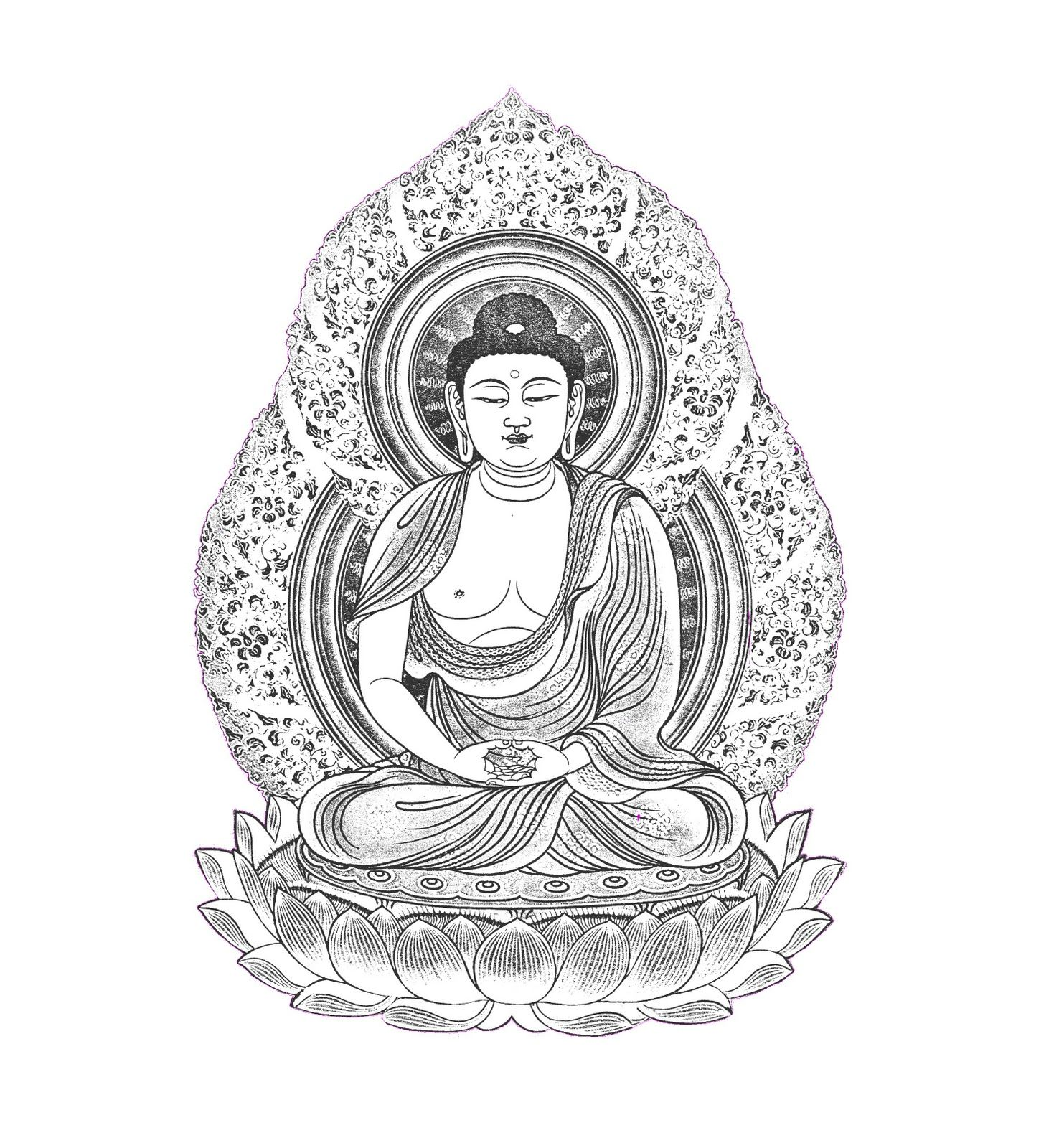 Free Buddha Coloring Page Artwork