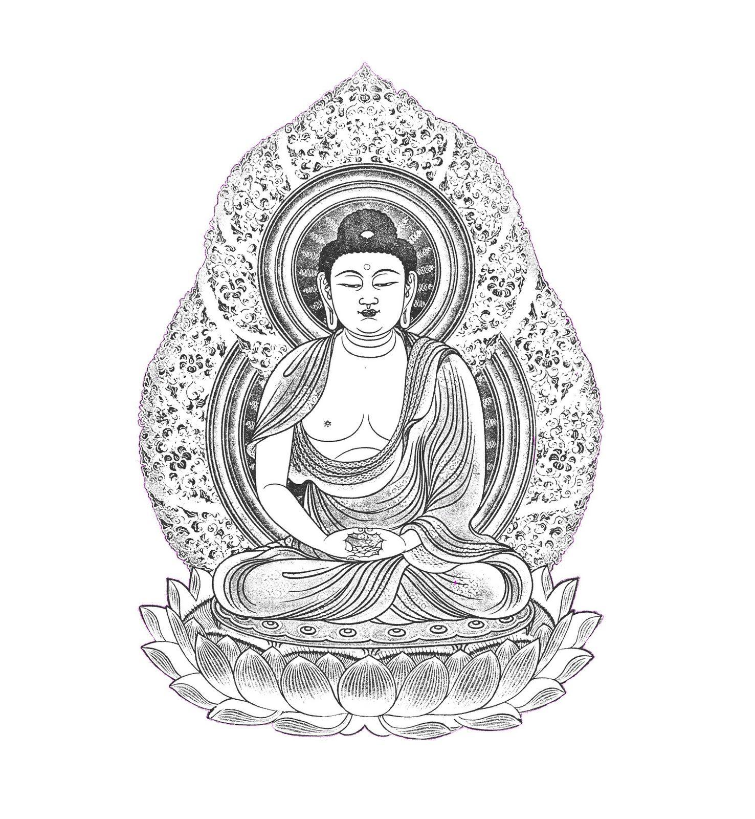 Free Buddha Coloring Page Mandala Coloring Books Buddha Art