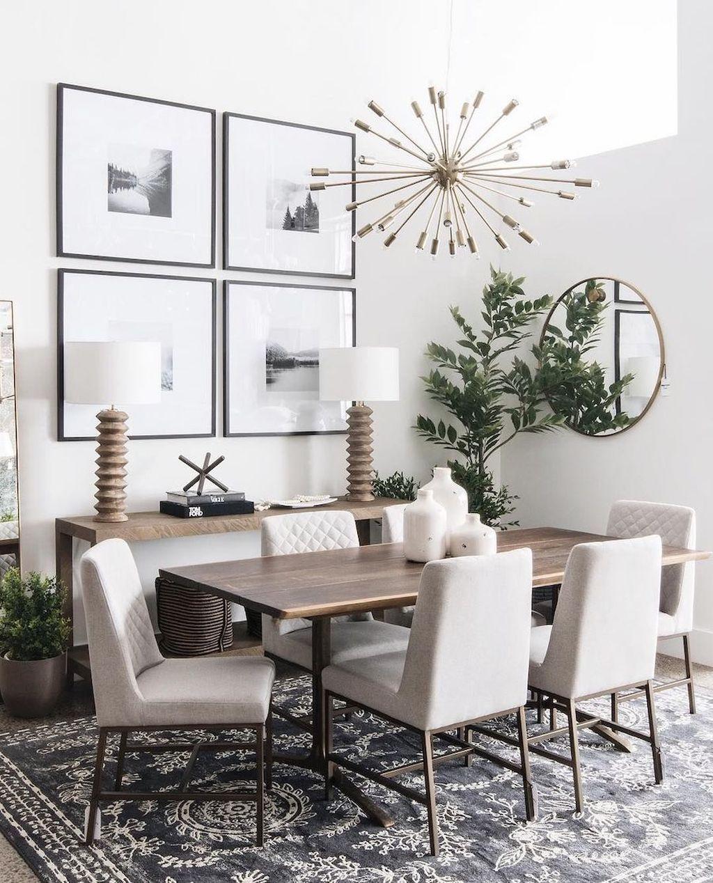 44 Popular Contemporary Dining Room Design Ideas Homyhomee In 2020 Small Dining Room Decor Modern Farmhouse Dining Room Dining Room Small