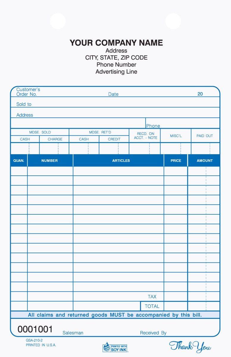 2 part auto service register tickets carbonless auto