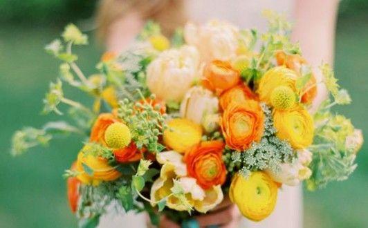 Decoração de Casamento : Paleta de Cores Laranja e Amarelo