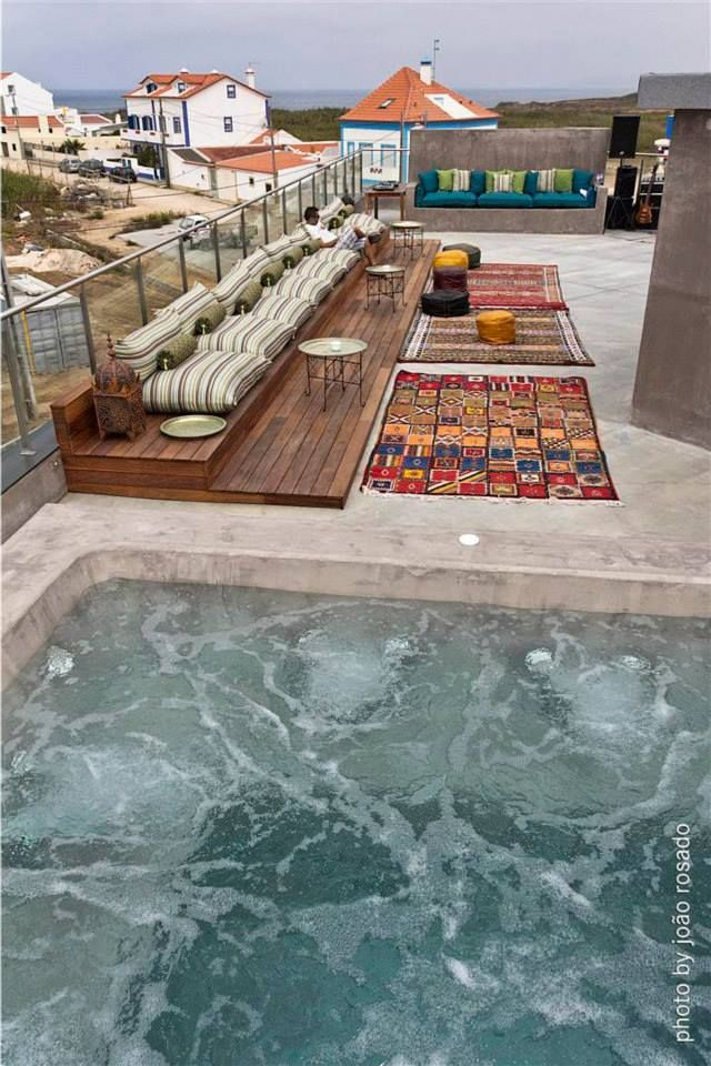 Moroccan Roof Terrace Jacussi Rooftop Terrace Design Rooftop Terrace Terrace Design