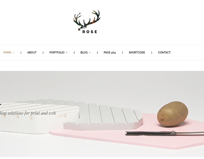 """Check out new work on my @Behance portfolio: """"Rose - Minimalist Agency…"""