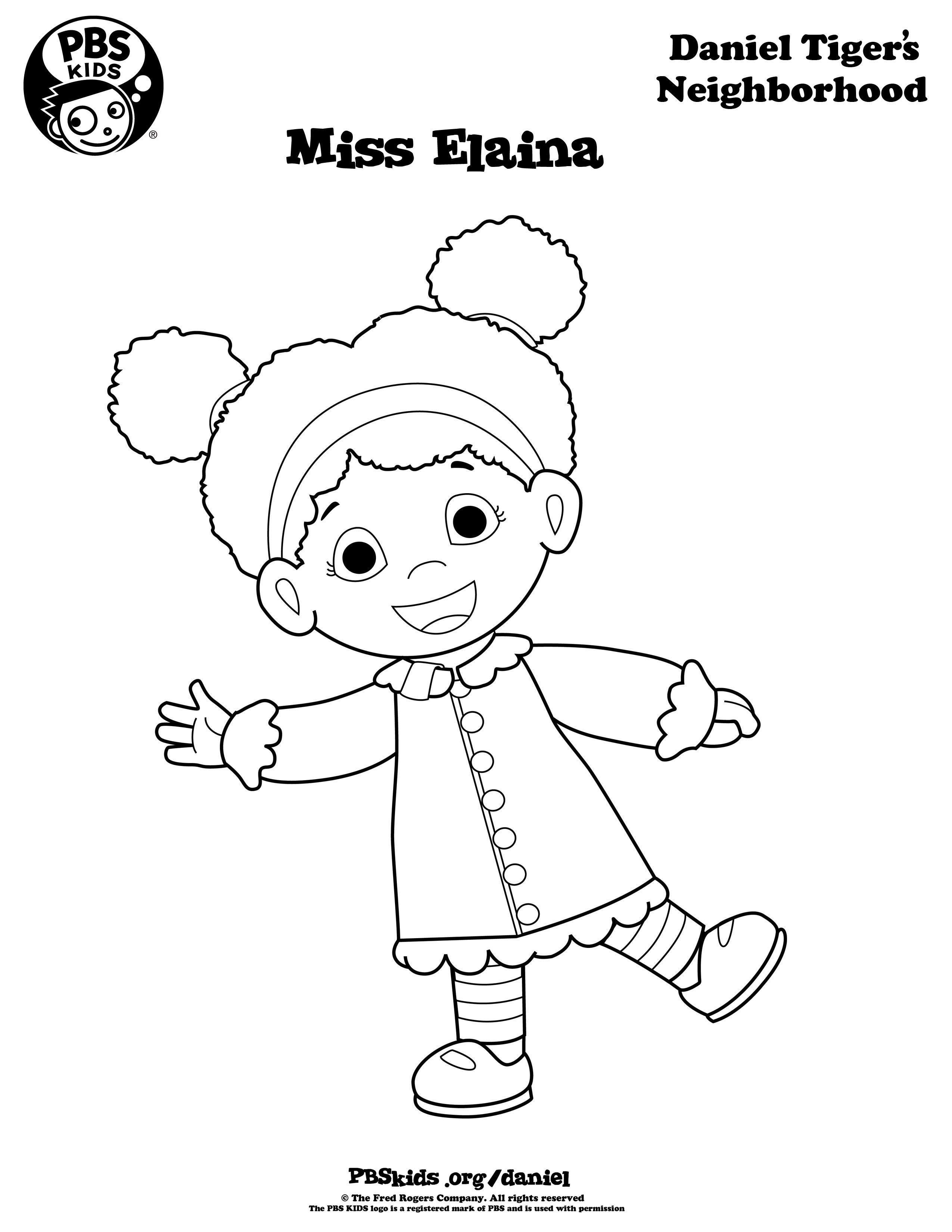 Daniel Tiger Coloring Pages . Daniel Tiger Birthday Party . PBS ...