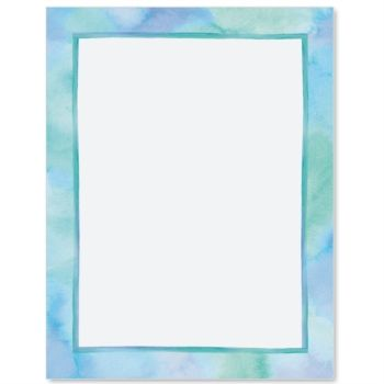 Blue Watercolor Designed Paperframes Border Papers Paper Direct