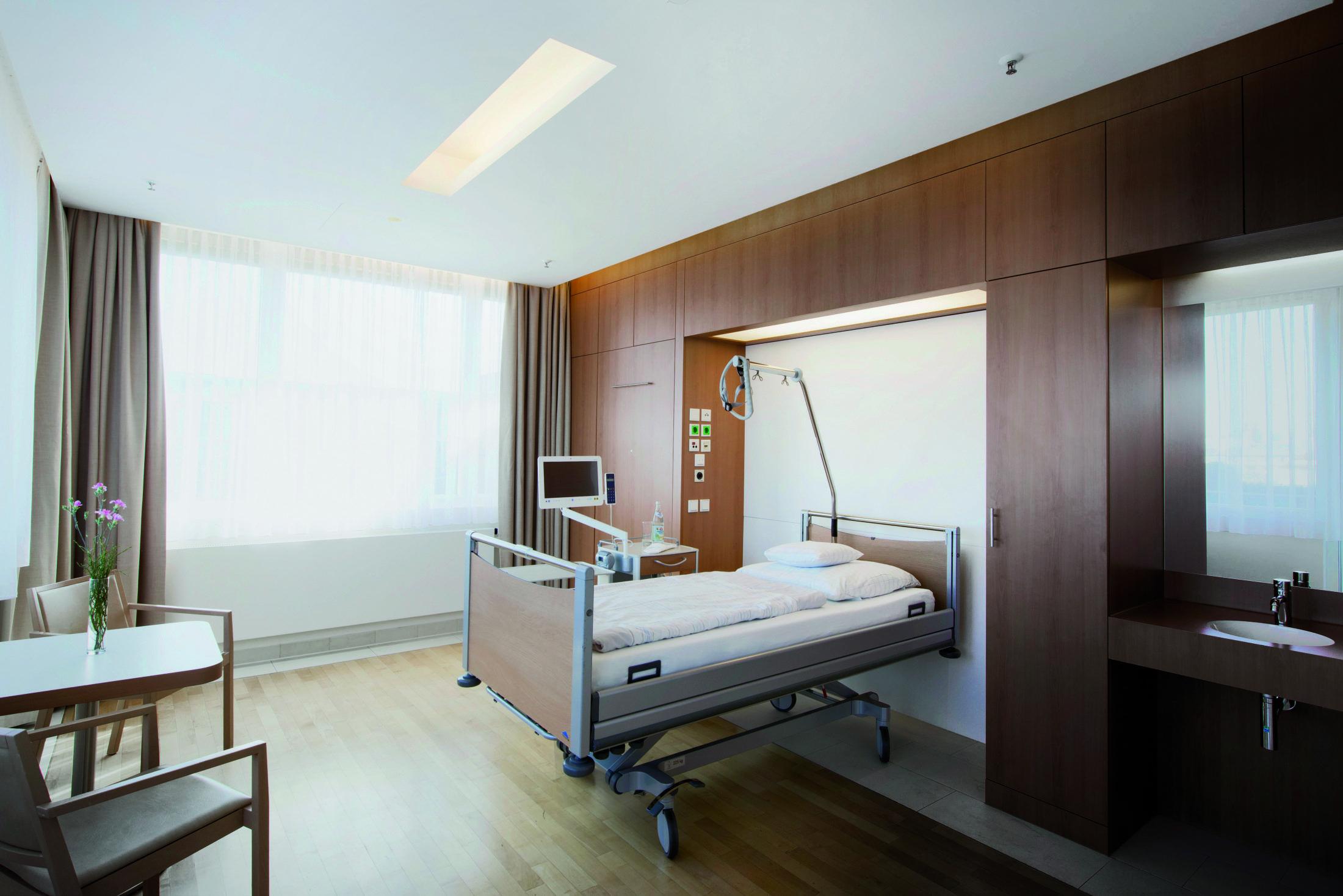 rgp architekten, Klinik, Patientenzimmer, Privatklinik