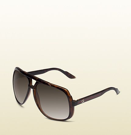 a65fb3d414ae Gucci - large aviator sunglasses with G detail and signature web on temple.  238122J16914002