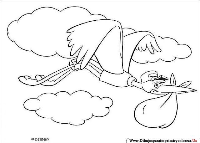 Dibujos de Dumbo para Imprimir y Colorear | dibujos | Pinterest