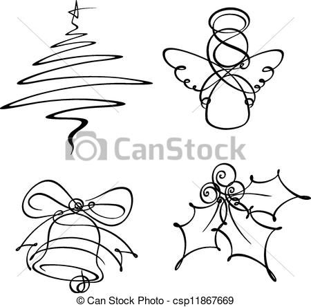 Image Result For Graphic Line Drawings Christmas Christmas Tree Drawing Christmas Drawing Tree Drawing