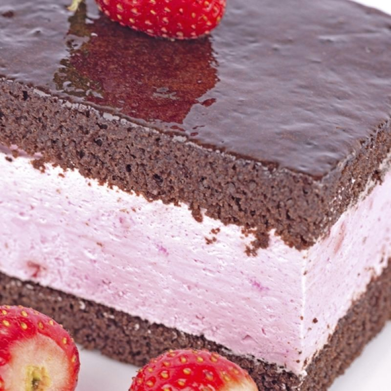 This Chocolate Cake has a Strawberry Mousse Filling has a wonderful