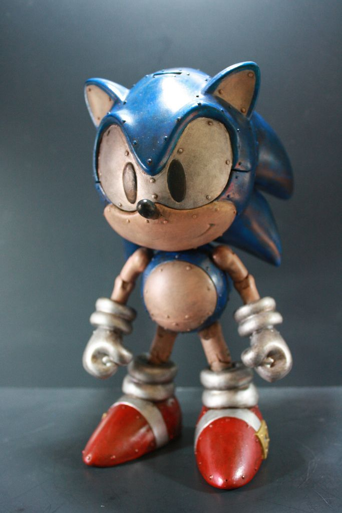 Giant Mecha Sonic Will Destroy Tokyo In Search Of Giant Golden Rings Sonic Art Toy Creepy Games