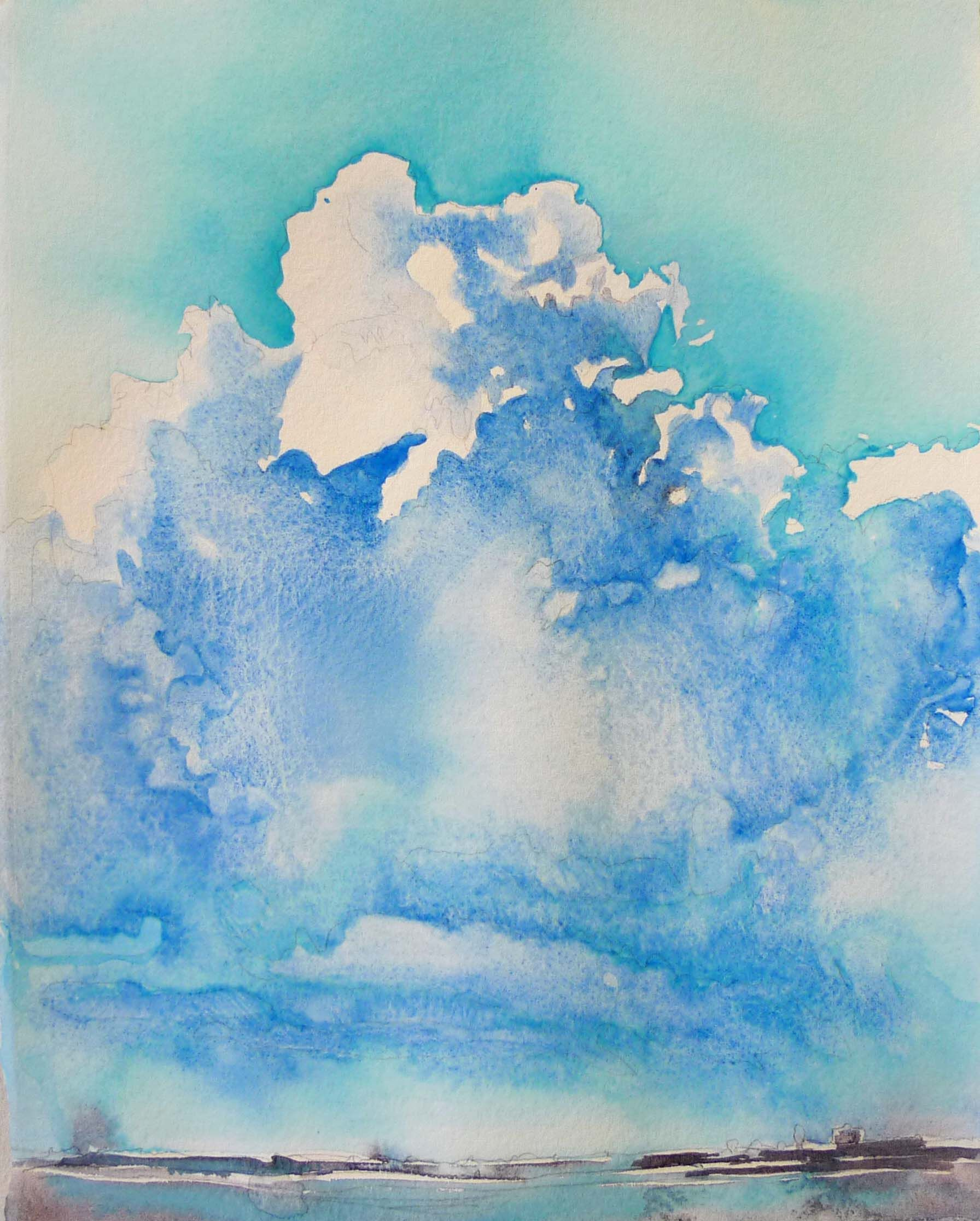 Skyy Watercolor 10 X 8 Watercolor Clouds Watercolor Sky