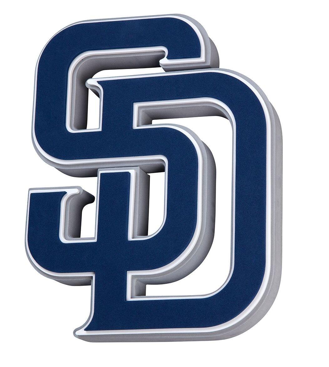 San Diego Padres 3d Fan Foam Logo Sign San Diego Padres Logo