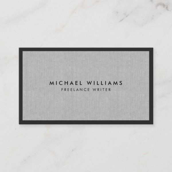 Professional Black And Gray Linen Business Card Zazzle Com Student Business Cards Linen Business Cards Custom Business Cards