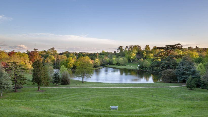 The view from top of the grass amphitheatre at claremont landscape the view from top of the grass amphitheatre at claremont landscape garden surrey workwithnaturefo