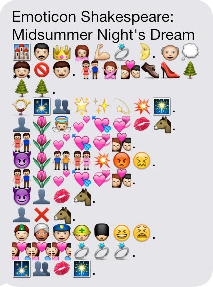 An Emoji Summary Of The Plot Of A Midsummer Nights Dream Created
