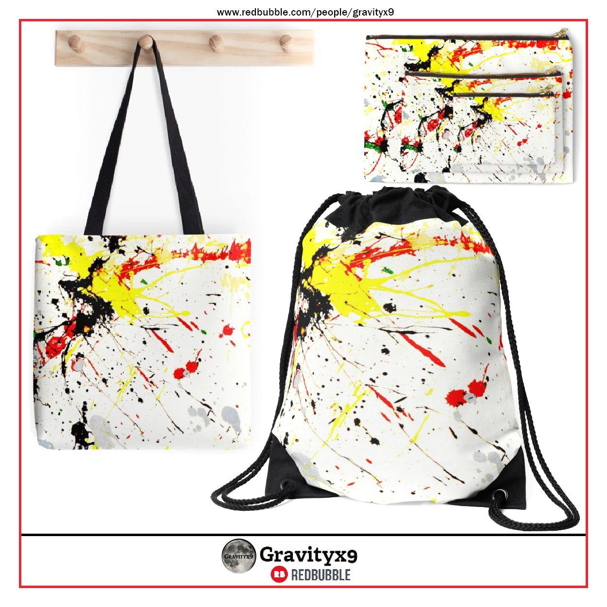 Drawstring Backpack Splatter Paint Shoulder Bags