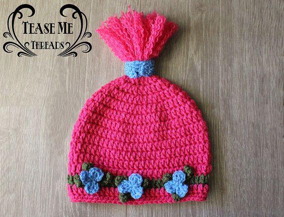 Trolls Crochet Hat_ Poppy Wig hat | Stuff to make | Pinterest