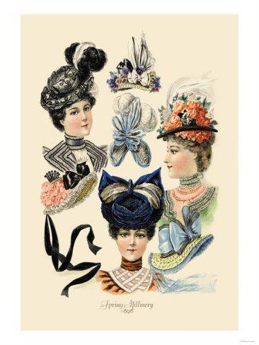 54b2e5078 Spring Millinery   Art Of Fashion...   Victorian hats, Fashion ...