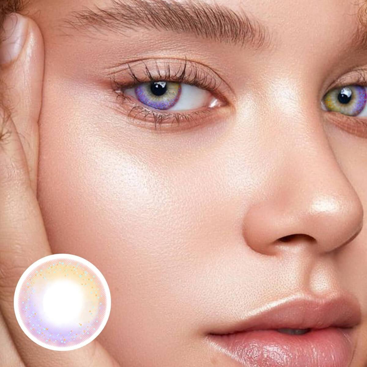 Rainbow Neon Brown Contact Lenses - Unicoeye