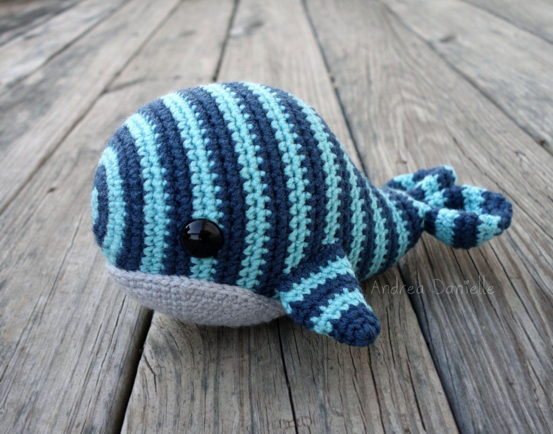 Free Crochet Amigurumi Whale Patterns : Will the whale crochet amigurumi plush aqua blue silver
