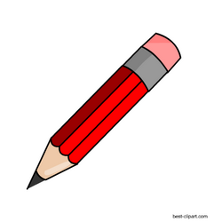 Red Pencil With Pink Eraser Free Png Clip Art Image Pencil Clipart Clip Art Ink Logo