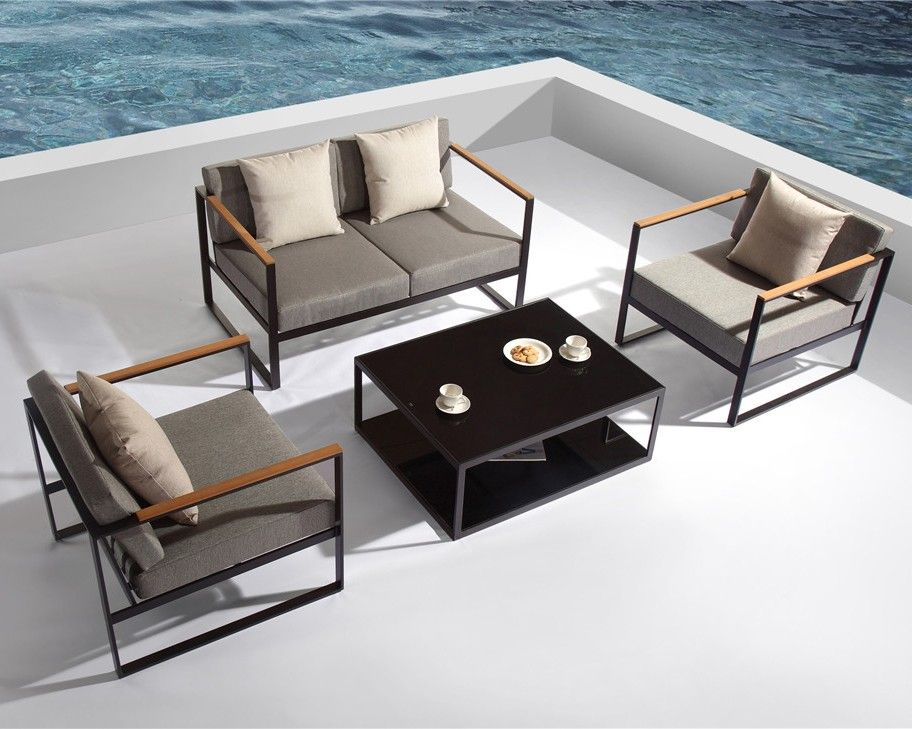 Santorini Deluxe 4pc Lounge Set Outdoor Furniture 18 Off 1 299 00 Milan Direct