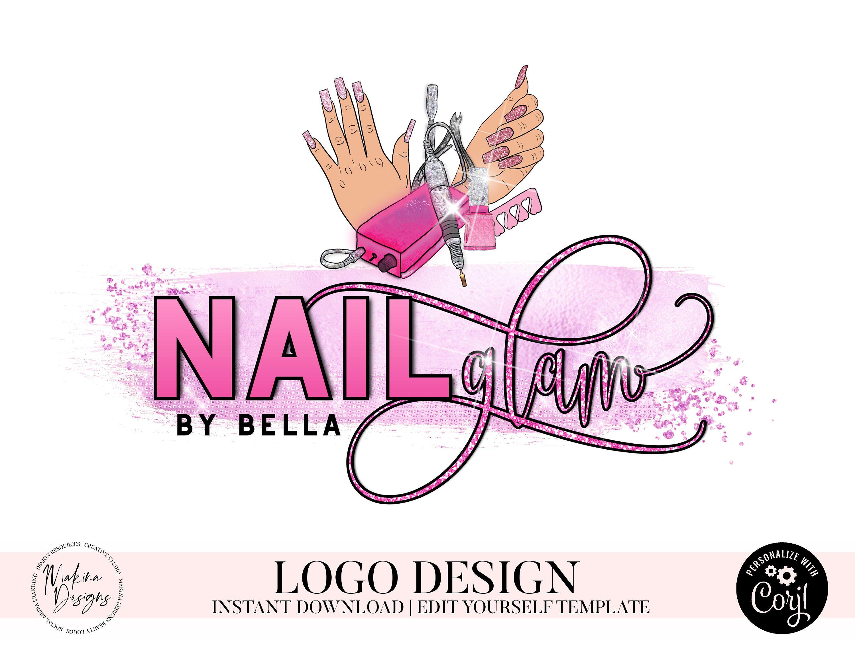 Nail Logo Design Nails Logo Logo Design Logo Premade Logo Etsy In 2020 Nail Logo Beautiful Logos Custom Business Signs