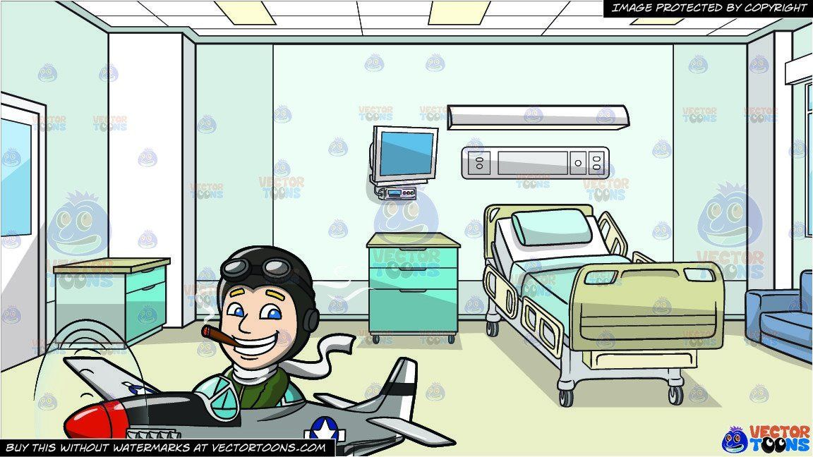 A Pilot Flying A Bomber Plane and Inside A Hospital Room