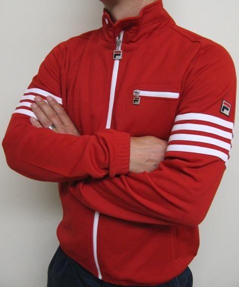 09b36878b82 Fila Vintage 4 Stripe Track Jacket in Red/White,fila vintage 4 stripe track  top